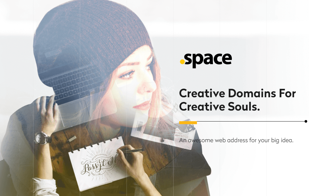 Domain registration .space at 0,99€
