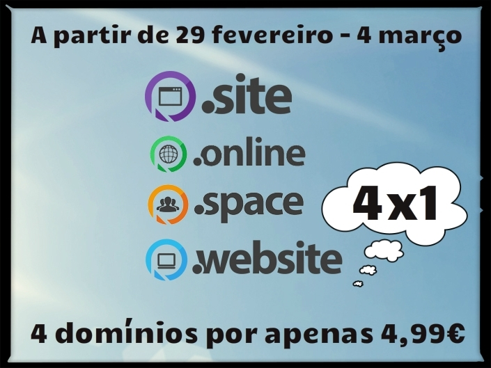Happy Leap Year for .online, .site, .website and .space domains!